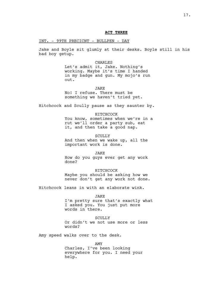 Brooklyn 99 Full Script-18